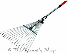 Garden Telescopic Expanding Rake Leaf Cuttings Lawn Clearing Lightweight Darlac