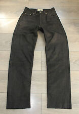 """Brown Thick Leather WIEDNER Biker Motorcycle Trousers Pants Jeans Size W28"""" L30"""""""