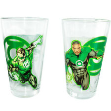 Green Lantern Pint Glass Toon Tumbler set 4 Hal, John, the Corps, & Sinestro