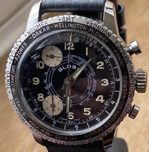 "GENTS Vintage 1960s ""GLOBA SPORT"" Telemeter Mechanical HAND-winding Watch"