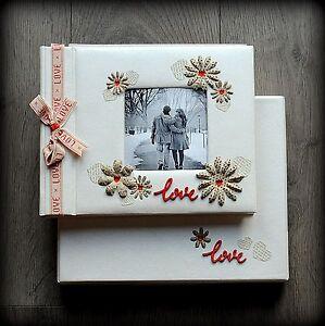 Luxury Personalised Romantic/ Wedding Photo Album/ Gift Handmade Boxed