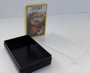 Jersey Playing Cards in Black/Clear Plastic Case - Deck is Brand New & Sealed