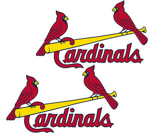 St Louis Cardinals cornhole decals 15 inches wide - Set of 2 Decals