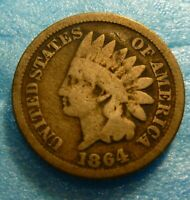1864 CN  Indian Head Penny Cent  Coin  #I64-2