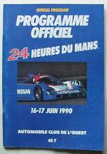 Le mans 24 heures course automobile d'endurance 1990 programme officiel