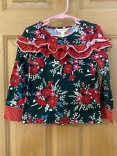 Matilda Jane Most Wonderful Time Sz 4 Top Shirt Ruffle Christmas Holiday 26135T