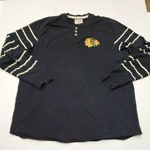 Chicago Blackhawks Hockey CCM Men's Black Long Sleeve Shirt 3XL Good Condition