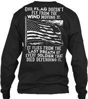 Usa Flag Gildan Long Sleeve Tee T-Shirt