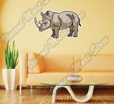 "Rhinoceros Rhino Africa Animal Wall Sticker Room Interior Decor 25""X18"""