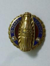 Vintage 10K Coca Cola 10 Year Employee Service Award Pin