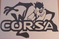 "LARGE 21"" taz car bonnet side sticker vauxhall corsa vinyl graphic decal funny"