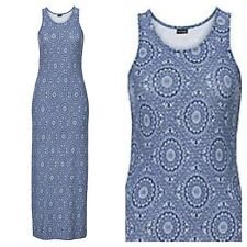 Kaleidoscope Bonprix Size 6 / 8 Blue Print Jersey Maxi DRESS Summer Holiday £29