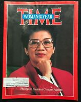 TIME MAGAZINE January 5 1987 CORAZON AQUINO / Mikhail Gorbachev / Sakharov
