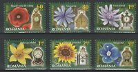 Romania 2013 Flowers 6 MNH stamps