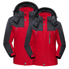 Men Women Winter Warm Outdoor Jacket Fleece Lined Waterproof Ski Snowboard Coat
