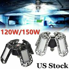 120/150W Deformable LED Garage Light 15000LM Super bright Ceiling Lights Lamp