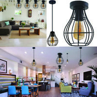 Vintage Industrial Metal Cage Ceiling Pendant E27 Light Shade easy fit lampshade