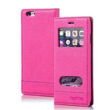 Numia Handy Tasche Schutz hülle Flip Cover Fenster Case Etui Apple iPhone 6 Pink