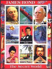 Congo James Bond/Secret World/Cinema/Films/Planes/Movies imperf sht (cs) b5486a