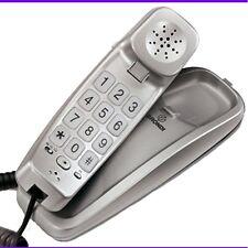 TELEFONO FIJO CON TECLAS GRANDES PAUSA RELLAMADA Y CABLE PLATEADO DE PARED
