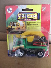 "Steel Roder #3322 BACK HOE TRUCK  3""IN X 2""IN PLASTIC AND PRESSED STEEL  NIP"
