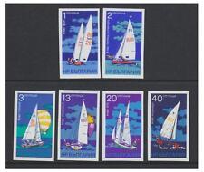 Bulgaria - 1973 Sailing Yachts (Imperf) set - MNH - SG 2282/7