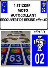 1 sticker motorcycle license plate TUNING 3D RESIN FPS PORTUGAL DEPARTURE 02