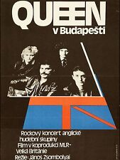 "Queen Budapest  16"" x 12"" Photo Repro Concert Poster"