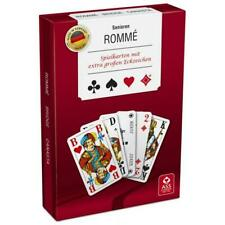 na-und Senioren Rommee Spielkarten 2x55Blatt extra große Ziff