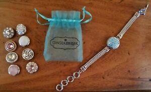 "Ginger Snap 1 Snap Bracelet with 9 snaps - Adjustable 7 1/4""-9"""