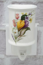 Crocus Plug in Night Light Ceramic 5037On/Off Switch Nightlight Electric Floral