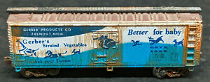 Bachmann Freight Cars N Scale: 41' Old Time Wood Reefer Gerber's WEATHERED