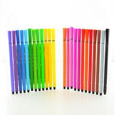 Paquete De 18-juego de plumas Lavable De Fibra Fieltro Punta Para Colorear Arte Colores Surtidos