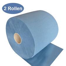 2 Putztuchrollen 3-lagig blau 500 Blatt//Rolle 37,5x36cm Putzpapier Putztuchrolle