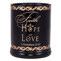 Faith Hope Love 1 Corinthians 13:13 Ceramic Electric Large Jar Candle Warmer