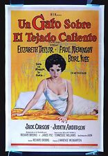 CAT ON A HOT TIN ROOF * CineMasterpieces MOVIE POSTER ELIZABETH LIZ TAYLOR 1958