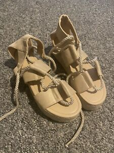 Brand New Wedge Platform Rope Sandals Size 8