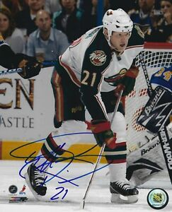 Mark Parrish Autographed Signed 8x10 Photo - Wild Stars Sabres Panthers NHL COA