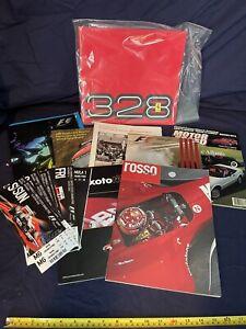 Collection of Ferrari magazines, Grand Prix brochures, Tifosi, and 328 brochure