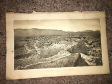 1877 Sketch Plate of Formation Spring at Soda Springs