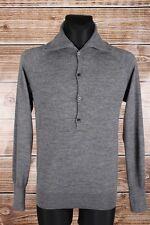 Fifth Avenue Shoe Repair Turtle Neck Buttons Men Sweater Size L, Genuine