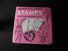 22 Metropolitan Museum of Art - Hearts and Flowers Rubber Stamps NIB