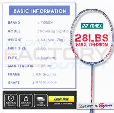 Yonex Nanoray 8i Badminton Racket Light Racquet Lee Chong Wei LCW + String +Grip