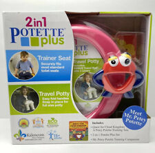 New in Box 2 in 1 Potette Plus Potty Chair, Trainer Seat & Travel Potty + Book