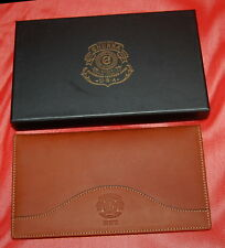 NWT GHURKA Chestnut Leather Passport Wallet $365