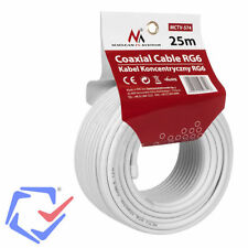 Maclean TV Systems MCTV-574 Coaxial cable 1.0CCS RG6  Satellite 75 Ohm 25meters