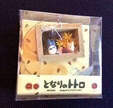 My Neighbor Totoro Chibi & Chu Mini Shadowbox w/Suction NEW Ghibli Studio Japan