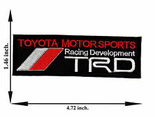 TRD Toyota Motor Sports Racing Development Car Logo Applique Iron on Patch Sew