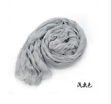 Women's Soft Wrinkle Cotton Blend Girl Scarf Wrap Shawl Fashion SIZE 63''X31''