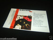 THE WHO NEW ZEALAND Unused Inlay Card